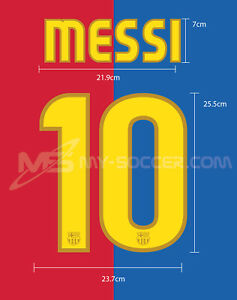 FC Barcelona Home 2008-10 MESSI PU NAME NUMBER PRINT EXCELLENT QUALITY