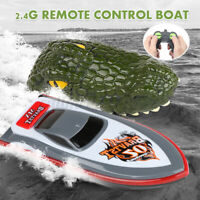 2.4GHZ 4CH Electric RC Boat Simulation Crocodile Head Water Toy + Remote Control