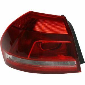 New VW2804108 Left Side, Outer Tail Light for Volkswagen Passat 2012-2015