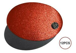 12 Placemats Set Christmas Red Glitter Oval Festive Xmas Table Home Decor