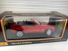 SPECIAL EDITION : RED MAISTO MERCEDES-BENZ SLK 230--1:18 1996 NIB