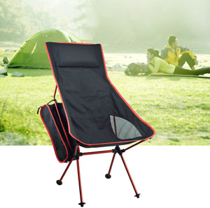 Lounge Folding Beach Chair with Portable Backpack Outdoor Camping Fishing Hiking