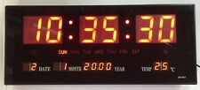 Gorgeous red LED digital Wall clock with Date Temperature