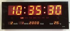 LED Digital Wall Clock With Date Temperature 360x155mm Without Ticking Watch in