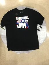 "Nike Dri-Fit Cotton T-Shirt Crewneck ""Basketball Is My Jam� Men's Xxl Black $25"
