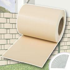 Rouleau 70m x 19cm PVC brise-vue pare-vent pour clôture terrasse jardin crème