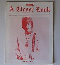 Lee Michaels A Closer Look 1969 Phoenix Az Concert Program/Magazine Wahler Psych