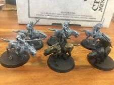 Lord of the rings Warg Riders X5 Plastic Games workshop LOTR