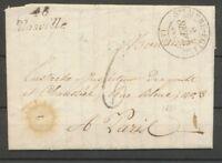 1832 Lettre Cursive 48 Blosville+ Ste Mere-Eglise T13 MANCHE(48) Ind 18 X2093