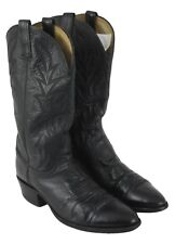 Dan Post Mens Black Embroidered Cowboy Riding Boots Size 10D