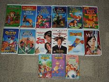 Disney VHS Collection 15 movies