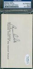 Whizzer White Autograph 3x5 Index Card Psa/dna Signed Authentic