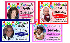 15  BIRTHDAY PHOTO MAGNETS FAVORS ~ ANY AGE