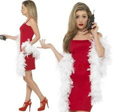 Smiffys Clueless Cher Costume Dress Feather Boa & Phone Accessory Size M Co