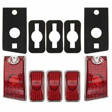 5x Red Top Roof Cab Marker Light Cover Lens for 2003-2009 Hummer H2 SUV SUT Set