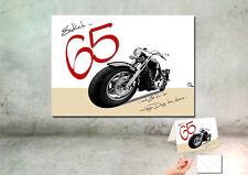 "DigitalOase ""65"" Wandbild Poster 30 x 40 cm 65. Geburtstag + passende Karte A6"