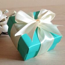 50x Tiffany Gift Boxes Lid Birthday Wedding Party Favour Bomboniere Cake Boxes