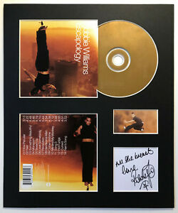 ROBBIE WILLIAMS - Signed Autographed - ESCAPOLOGY - Album Display