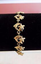 14k starfish dolphin sea themed bracelet 10.5 grams