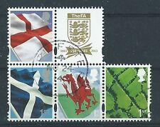 Grande-Bretagne 2013 4 NEUF régional timbres,EX FOOTBALL héros très bien utilisé