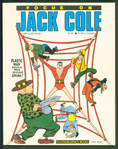 FOCUS ON JACK COLE TPB VF- PLASTIC MAN INDEX PUBLISHED WORK FANTAGRAPHICS BOOKS