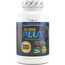 ALPHA PLUS - 180 Kapseln Hochdosiert! Maca Arginin Tribulus - Testosteron Potenz
