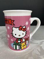 Vintage Hello Kitty Mug Sanrio PINK Mug 1976 2013 Hello Kitty Christmas Mug