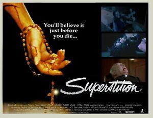 "SUPERSTITION aka The Witch custom UK quad poster 30x40"" FREE P&P Slasher 1982"