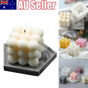 DIY Candles Mold Soy Wax Candle Mold Aromatherapy Plaster 3D Silicone Mould