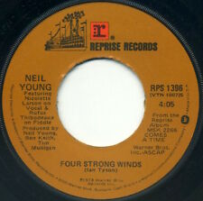 """NEIL YOUNG Four Strong Winds/Human Highway 7"""" 1978 Reprise VG+"""