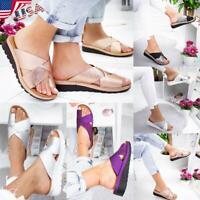 USA Womens Lady Comfy Platform Sandal Shoes PU LEATHER for Bunion Corrector Gift