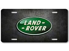 Land Rover Aluminum Car Auto License Plate Abstract Art British Rugged Metallic