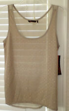 SOFIA VERGARA STUDDED FRONT KHAKI TANK NWT MISSES MEDIUM