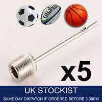 5x Needle Pump Valve Adaptor Inflating Ball Football Rugby Volleyball Netball