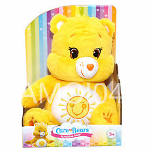 "Care Bears Funshine Bear Rainbow Yellow Plush Toy 12"" inch/30cm New"