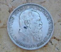 Coin Münze 5 Mark Prinzregent Luitpold von Bayern 1911 D J. 50 Silber .