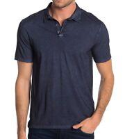 John Varvatos Star USA Men's Short Sleeve Polo Shirt Garment Washed Midnight