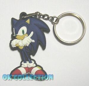 PORTACHIAVI gomma morbida SONIC della serie videogiochi Sonic (cm 6) keyring B