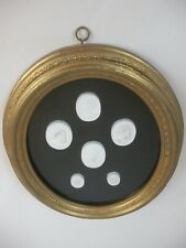 2of2 Plaster Intaglio Medallions Cameo Gold Frame Italy French Grand tour style