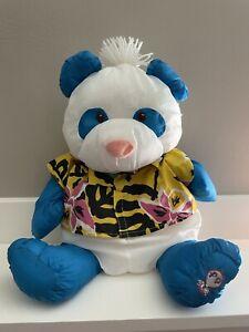 "Vtg Fisher Price Puffalump Wild Thing Panda Bear 18"" Plush 1987 Hawaiian Shirt"