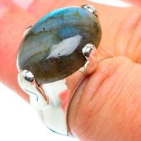Large Labradorite 925 Sterling Silver Ring Size 6.75 Ana Co Jewelry R54894