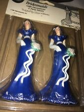 Vintage Wilton Bridesmaid Cake Toppers Wedding Blue New 4 1/2 Inches