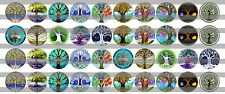 (60) Tree of Life Bottle Cap Image Pre-Cut 12mm