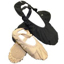 Kids Adults Fabric Stretch Ballet Shoes Girls Womens Dance Ballerina Footwear