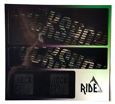 RockShox Super Delux Rear Shock Style Sticker Decal Sets- Enduro, DH, Camo