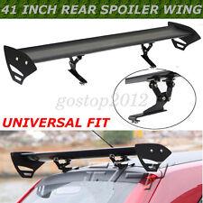 Black Universal Hatch Aluminum Adjustable Single Deck GT Rear Trunk Wing Spoiler