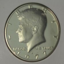1977-S PROOF JOHN F KENNEDY HALF DOLLAR FROM MINT PROOF SET COPPER-NICKEL CLAD