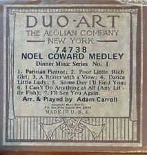 NOEL COWARD MEDLEY DUO-ART RECUT REPRODUCING PIANO ROLL