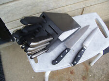 JA Henckels Everedge Plus 13-Piece Knife Block Set + 2 EXTRAS USED VERY NICE
