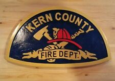 Fire Department Kern County 3D routed carved award plaque Patch Sign Custom